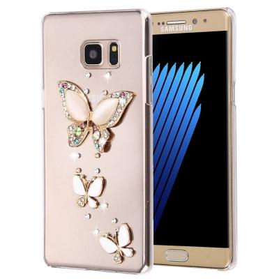 Ochranný kryt s ozdobným motívom pre Samsung Galaxy Note 7 - Three Butterflies