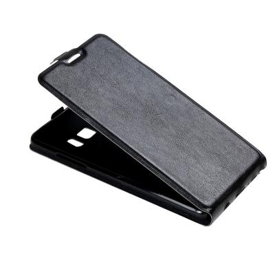 Kožené flip puzdro pre Samsung Galaxy Note 7 - čierne