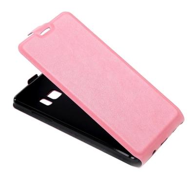 Kožené flip puzdro pre Samsung Galaxy Note 7 - ružové