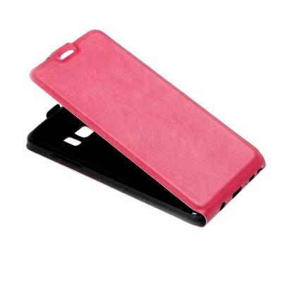 Kožené flip puzdro pre Samsung Galaxy Note 7 - magenta