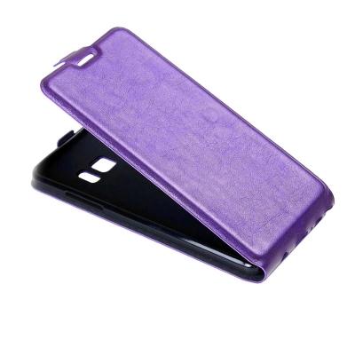 Kožené flip puzdro pre Samsung Galaxy Note 7 - fialové