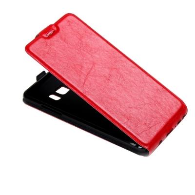 Kožené flip puzdro pre Samsung Galaxy Note 7 - červené