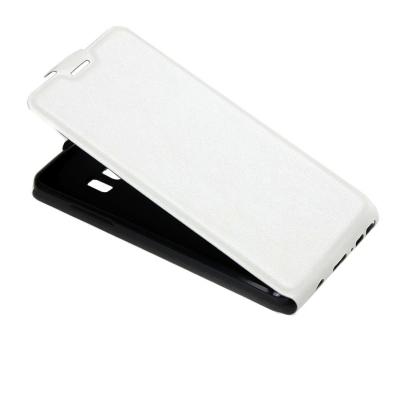 Kožené flip puzdro pre Samsung Galaxy Note 7 - biele