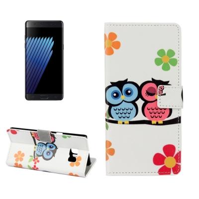 Kožené púzdro pre Samsung Galaxy Note 7 - Lovers Owl