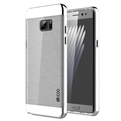 Ochranný kryt Slicoo so štruktúrou pre Samsung Galaxy Note 7 - Strieborný
