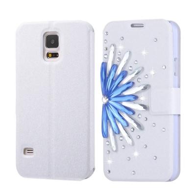 Kožené púzdro s motívom pre Samsung Galaxy S5 - Flower