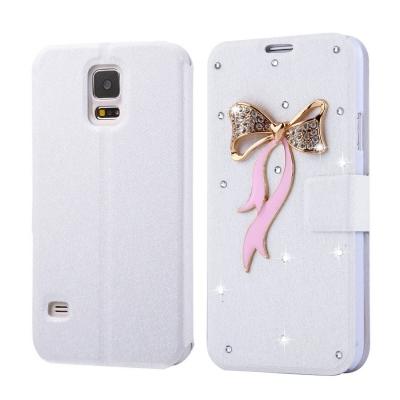 Kožené púzdro s motívom pre Samsung Galaxy S5 - Bowknot