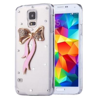 Ochranný kryt s ozdobným motívom pre Samsung Galaxy S5 - Bowknot