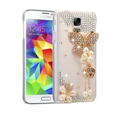 Ochranný kryt s ozdobným motívom pre Samsung Galaxy S5 - Pearl Butterfly