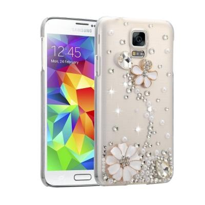 Ochranný kryt s ozdobným motívom pre Samsung Galaxy S5 - Pearl Flower
