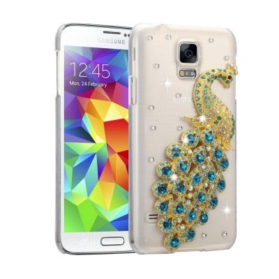 Ochranný kryt s ozdobným motívom pre Samsung Galaxy S5 - Peacock