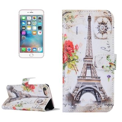 Diárové kožené púzdro pre iPhone 7 - Eiffel tower