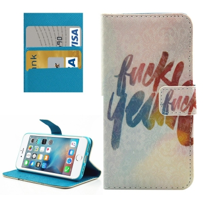 Diárové kožené púzdro pre iPhone 7 - Lucky Year