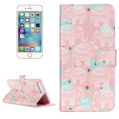 Kožené diárové púzdro pre iPhone 7 plus -  Elephant