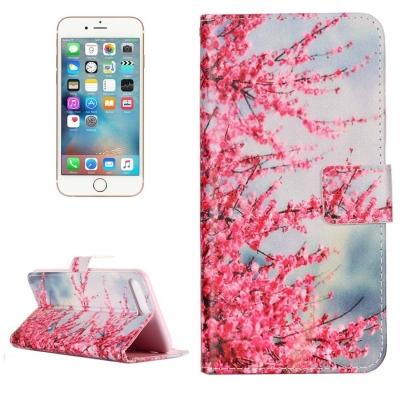 Kožené diárové púzdro pre iPhone 7 plus -  Pink Tree