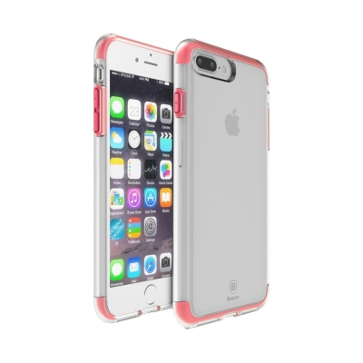 Baseus ochranný kryt s rámom pre iPhone 7 plus - red