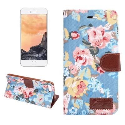 Kožené diárové púzdro pre iPhone 7 plus -  Flower blue