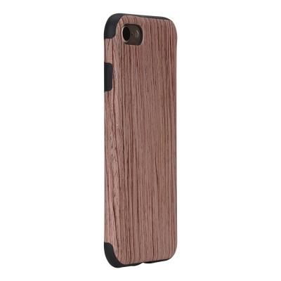 ROCK štýlový ochranný kryt natural series pre iPhone 7 - rosewood