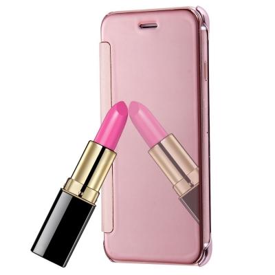 Flip zrkadlový kryt pre iPhone 7 - rose gold