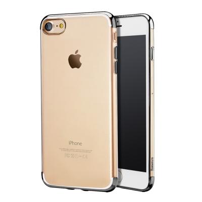 Baseus ultra tenký transparentný kryt s rámom pre iPhone 7 - black