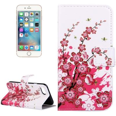 Diárové kožené púzdro pre iPhone 7 - Plum blossom