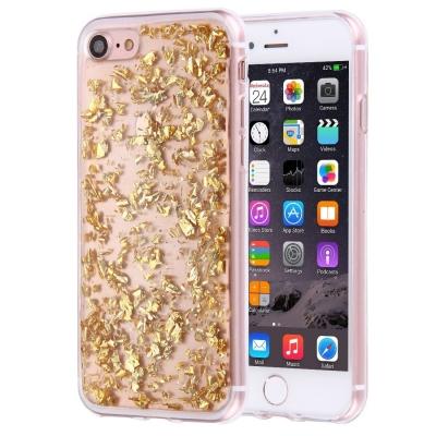 Ochranný kryt s kamienkami pre iPhone 7 - gold