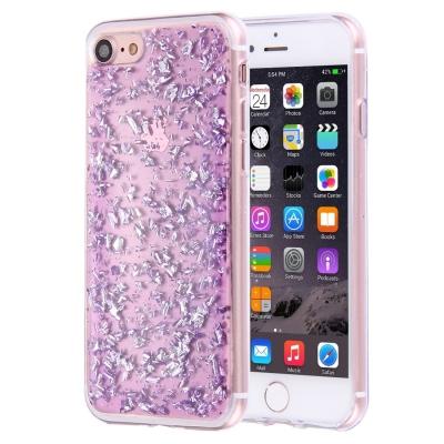 Ochranný kryt s kamienkami pre iPhone 7 - purple