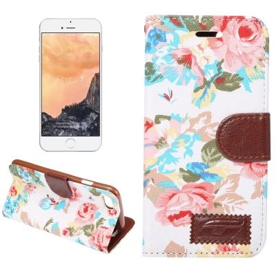 Diárové kožené púzdro pre iPhone 7 - White floral