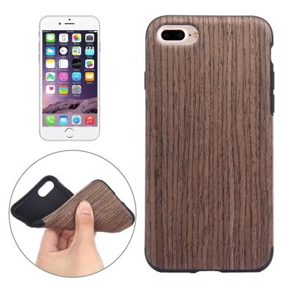 Štýlový ochranný kryt imitácia dreva pre iPhone 7 plus - black rose