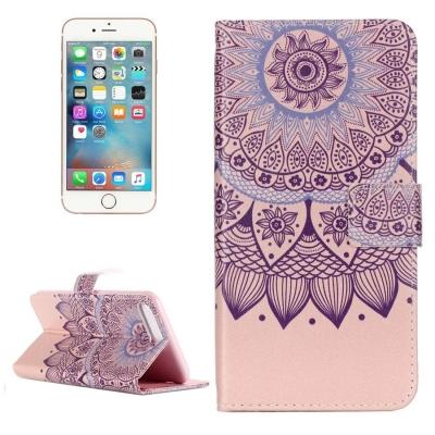 Kožené diárové púzdro pre iPhone 7 plus -  Lotus