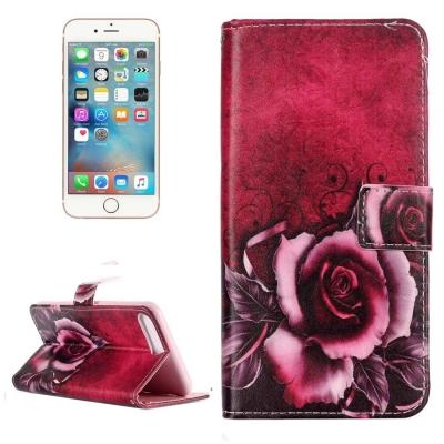 Kožené diárové púzdro pre iPhone 7 plus - Rose