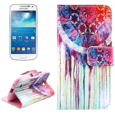 Kožené púzdro pre Samsung Galaxy S IV mini / i9190- Wind chime
