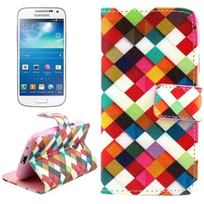 Kožené púzdro pre Samsung Galaxy S IV mini / i9190- Colorful