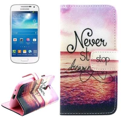 Kožené púzdro pre Samsung Galaxy S IV mini / i9190- Sea pattern