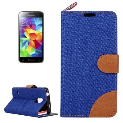 Kožené púzdro Demin pre Samsung Galaxy S5 mini/G800- blue