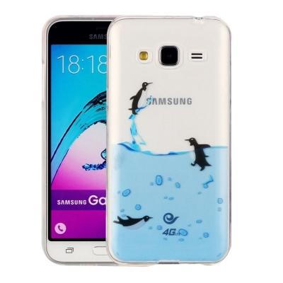 Ochranný plastový kryt na Samsung Galaxy J3 - 2016 - Penguins