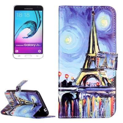 Kožené diárove puzdro na Samsung Galaxy J3 - 2016 - Oil Painting