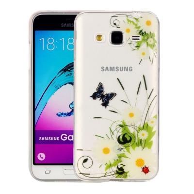 Ochranný plastový kryt na Samsung Galaxy J3 - 2016 - White Chrysanthemum