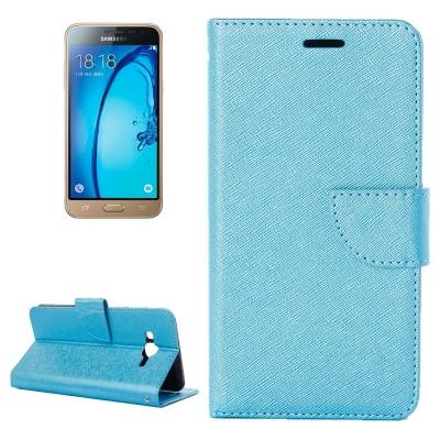 Kožené diárove puzdro na Samsung Galaxy J3 - 2016 - Blue