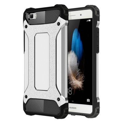 Ultra armor ochranný kryt pre Huawei P8 Lite - Silver