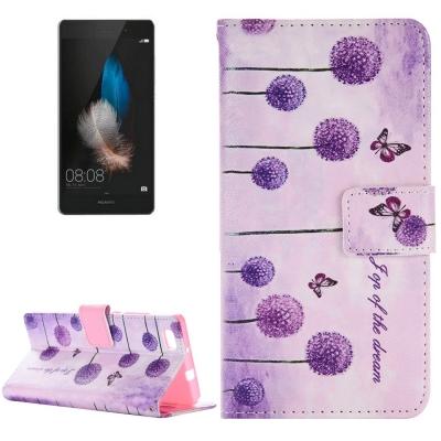 Diárové kožené púzdro pre Huawei P8 Lite - Purple Dandelions