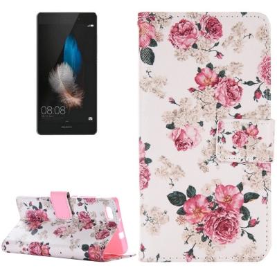 Diárové kožené púzdro pre Huawei P8 Lite - Chinese Rose