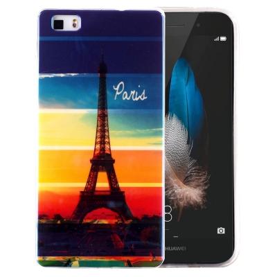 Ochranný plastový kryt pre Huawei P8 Lite -  Rainbow Eiffel Tower