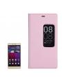 Kožené ochranné flip púzdro pre Huawei P8 - pink