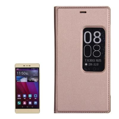 Kožené ochranné flip púzdro pre Huawei P8 - gold
