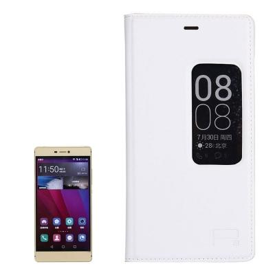 Kožené ochranné flip púzdro pre Huawei P8 - white