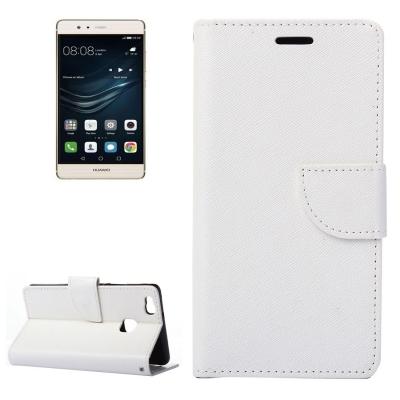 Kožené diárove puzdro na Huawei P9 Lite - white