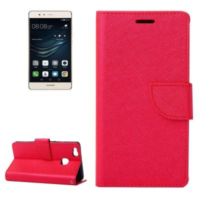 Kožené diárove puzdro na Huawei P9 Lite - red