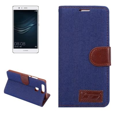 Diárové kožené púzdro pre Huawei P9 - Dark blue