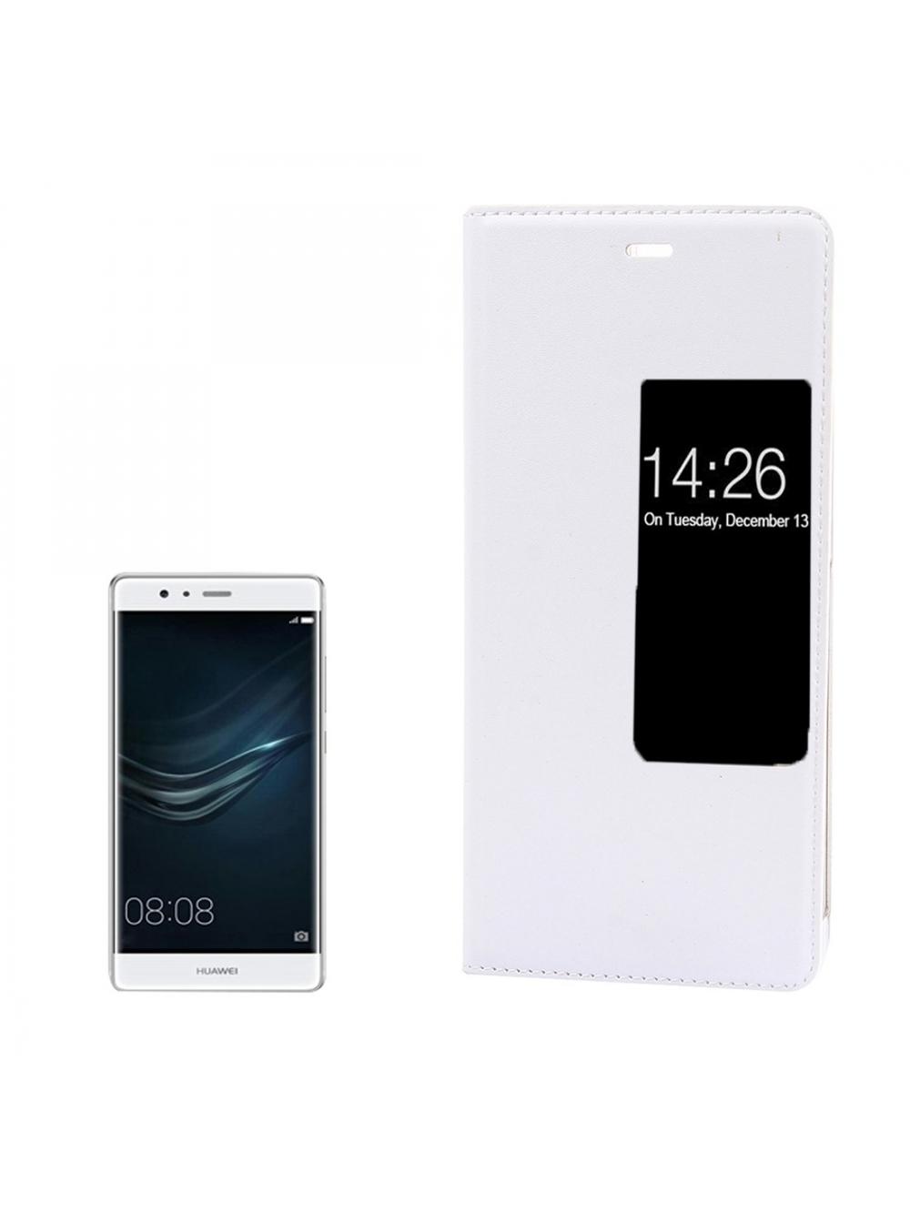 Kožené ochranné flip púzdro pre Huawei P9 - white. Loading zoom 3122a82ddc4